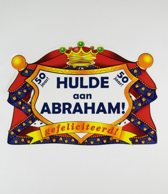 Huldeschild Kroon Abraham