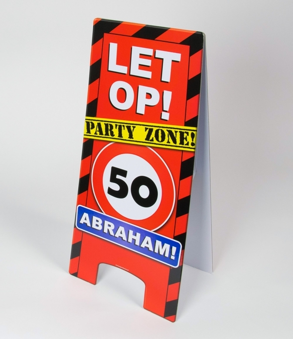 Warning Signs 50 Jaar Abraham