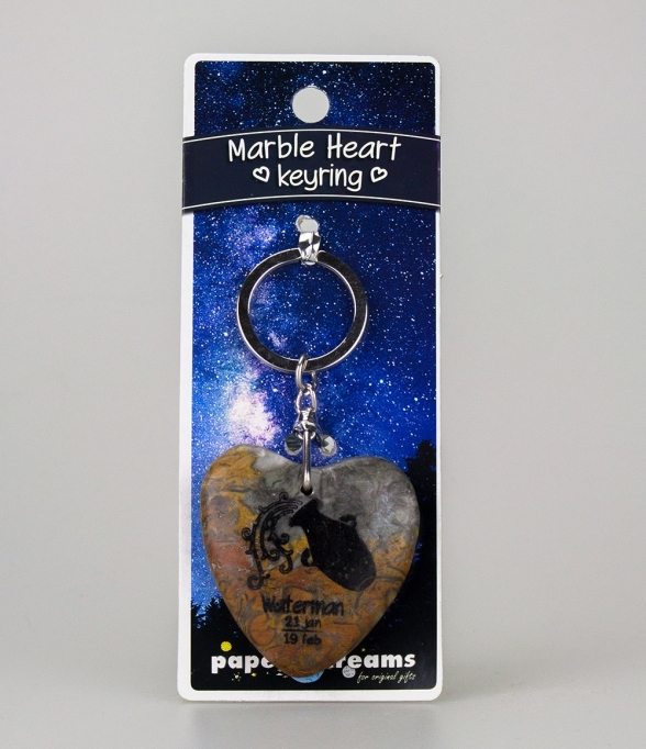 Marble Heart Keyring Waterman
