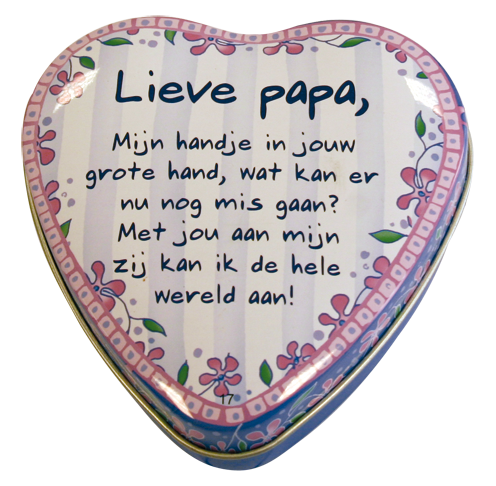 "Lovely tin ""lieve papa"""