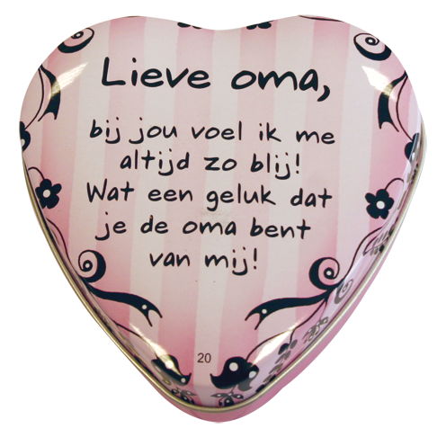 "Lovely tin ""lieve oma"""