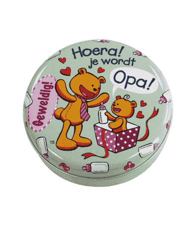 "Lovely tin ""hoera je wordt opa"""